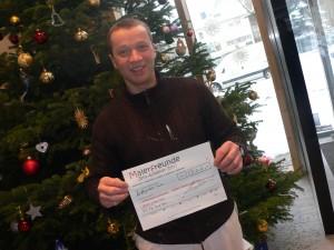 Übergabe der Spende für das Kinderhospiz Sonnenhof der Björn Schulz Stiftung