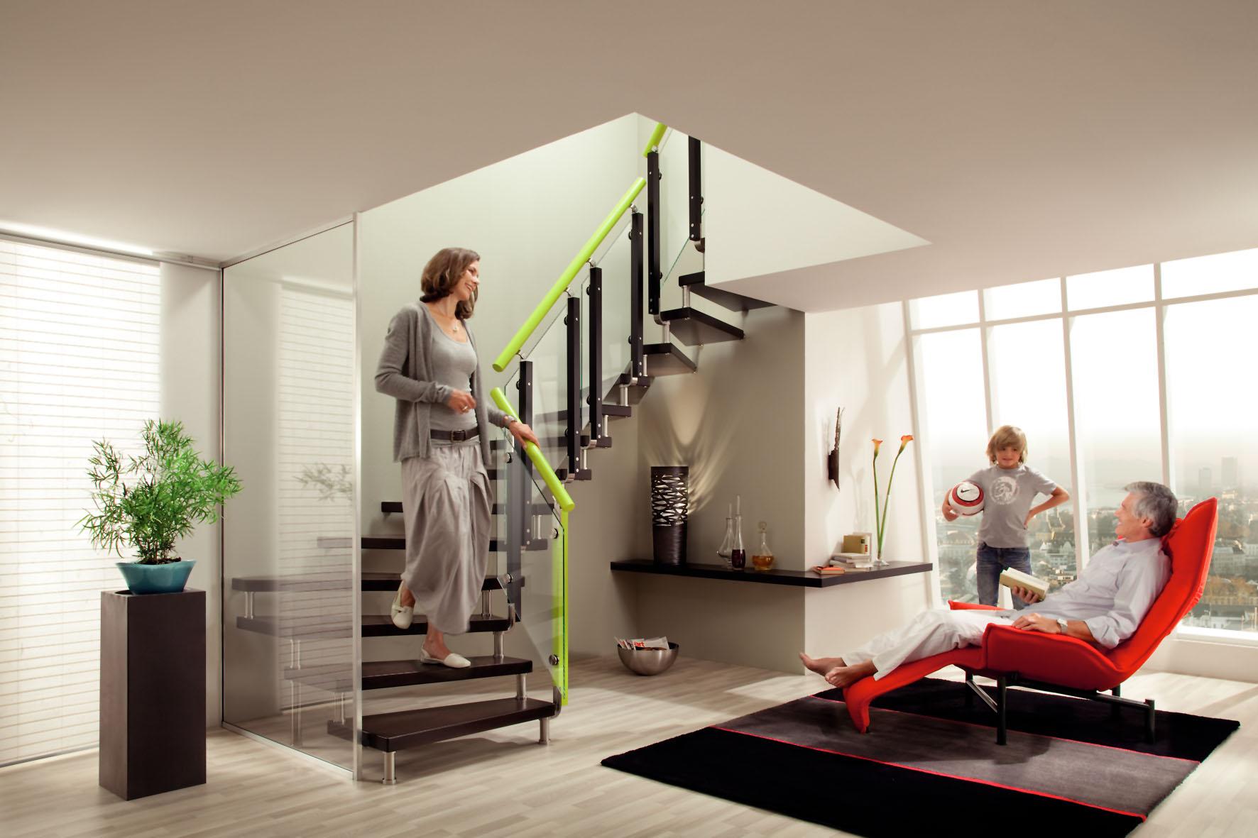 Bucher-Treppe ohne tragende Elemente