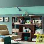 Grüne Farbe bringt Atmosphäre in den Raum