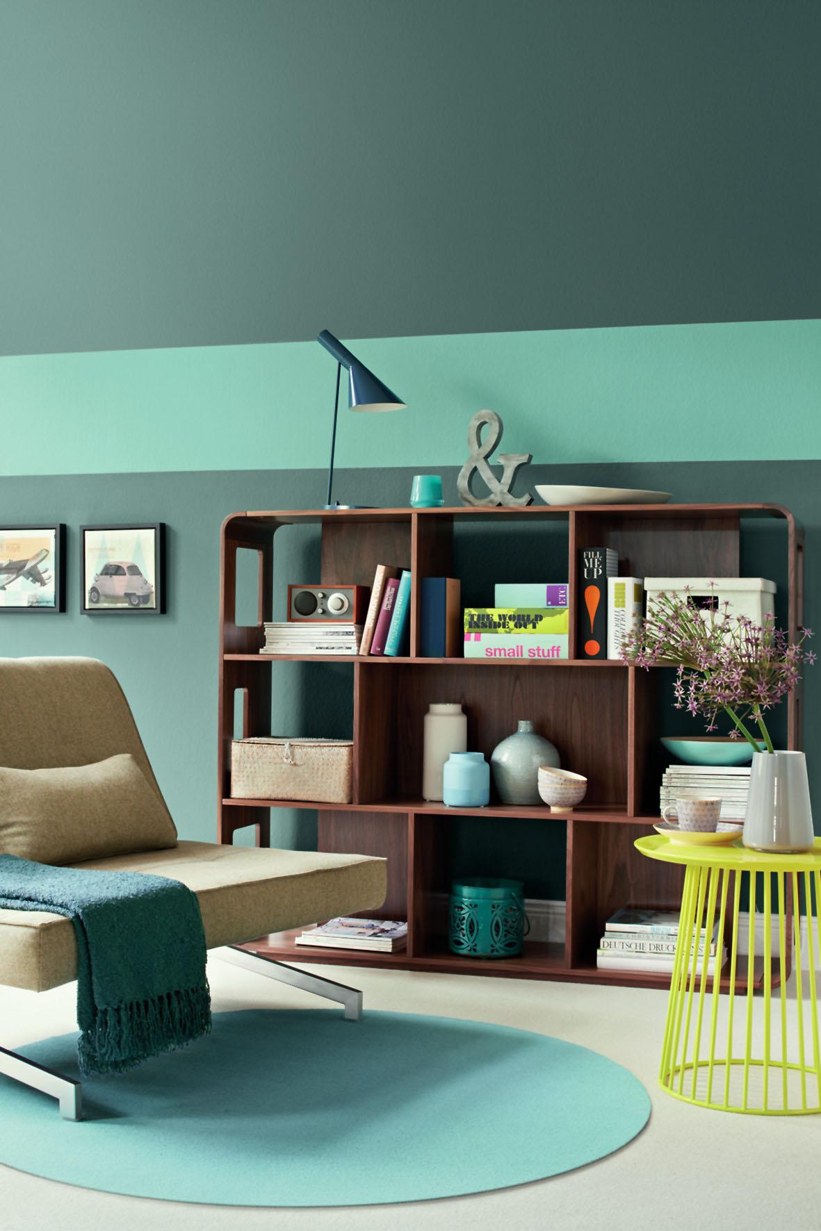 Perfekt Grüne Farbe Bringt Atmosphäre In Den Raum